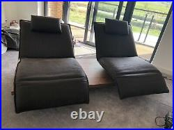 Game Leather 2-Seater Multimedia Sofa & Chaise Longue NEAT & IMMACULATE