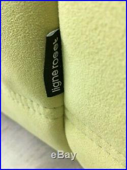 Genuine Ligne Roset Two seater Togo sofa chaise longue Green Lime