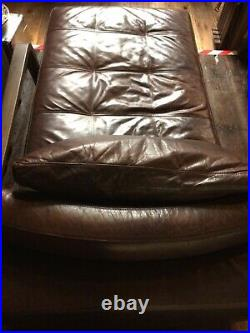 Genuine Real Leather Aniline Chaise Sofa Vintage Bed Pouffe Natuzzi 16885cm