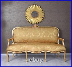 Giant sofa Rococo style bench chaise longue gold Baroque french Louis XV couch