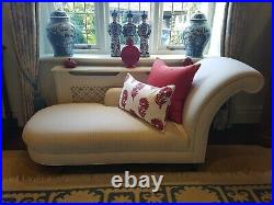 Great Condition Laura Ashley Chaise Longue Sofa in Ivory / Cream RRP £1,000+