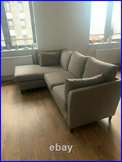Grey Fabric Sofa 2/3 Seat with Chaise Longue IKEA BANKERYD