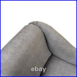 Grey Linen Tufted Chesterfield Chaise Lounge Sofa Bedroom Chair Bench