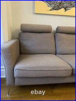 Grey corner sofa with right hand facing chaise longue by SITS, model Caprice
