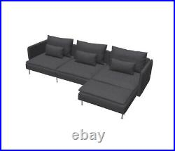 IKEA Cover For Soderhamn 4 Seat Sofa With Chaise Longue And Two Armrests