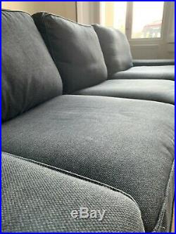 IKEA KIVIK 3-seat sofa with chaise longue, anthracite