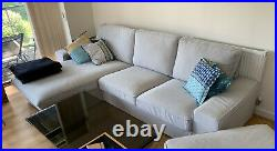 IKEA KIVIK 3-seat sofa, with chaise longue, grey, 1 1/2Y old, was £625, now £299