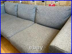 IKEA VIMLE grey sofa with chaise longue and storage compartment