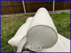 Iconic Le Corbusier Style LC4 Chaise Lounge White Leather Great Condition