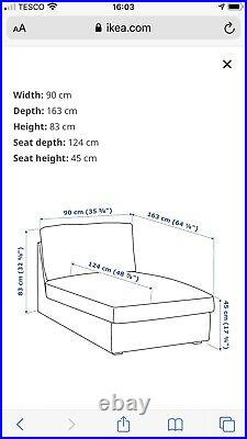 Ikea Kivik Chaise Lounge With Ivory Covers