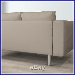 Ikea Norsborg 2 seater sofa & Chaise Longue REPLACEMENT COVER ONLY Grasbo Beige