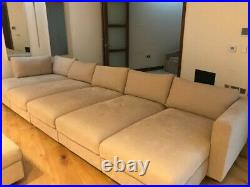 Ikea VIMLE beige 5-seater chaise longue sofa + footstool / FREE local delivery