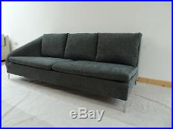 Impeccable Ligne Roset Chaise/ open ended sofa in soft Herringbone fabric