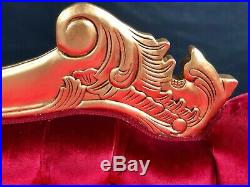 LEFT HAND GOLD LEAF Hampshire chaise longue sofa (MEDIUM) with RED VELVET