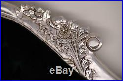 Large French Style Silver Black Chaise Longue Lounge Sofa W Crystals Free Delive
