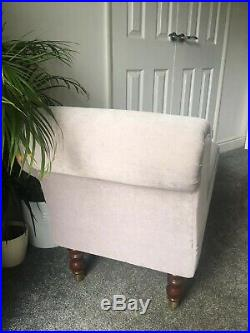 Laura Ashley Chaise Longue. Recovered in neutral/grey colour