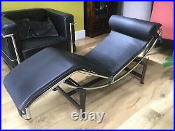 Le Corbusier LC4 Chaise Lounge reproduction, Genuine Leather