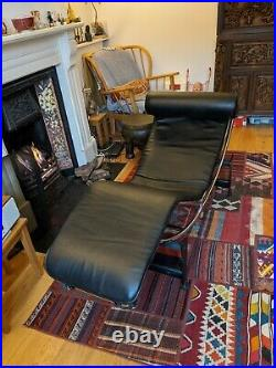 Le Corbusier LC-4 Style Replica Chaise Lounge Chair Modern Adjustable Headrest