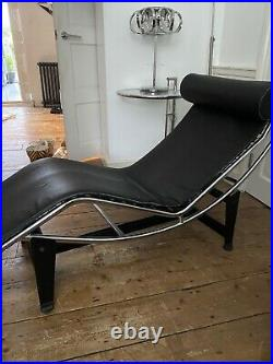 Le Corbusier Style LC4 Chaise Lounge Premium Quality Leather