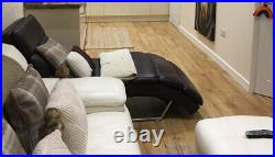 Leather chaise lounge
