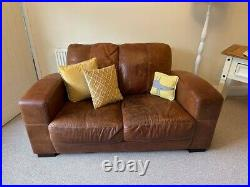 Left chaise longue corner sofa DFS leather and 2 seater sofa