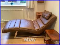 Luxury Genuine Leather Chaise Lounge