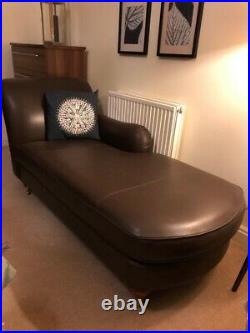 MARKS & SPENCER ABBEY Brown Leather LH Chaise Longue, Excellent condition