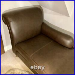 MARKS & SPENCER ABBEY Brown Leather LH Chaise Longue RP £1099 Excellent/unused