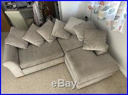 Next Toulouse Corner scatter back sofa chaise longue cleaned & smoke free