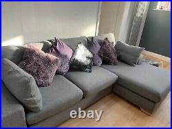 Next grey corner sofa with chaise longue. Excellent condition