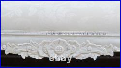 Ornate Chaise Longue Antique White Ivory Cream Carved Crystal Event Salon Sofa