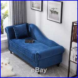 Ornate Chaise Longue Lounge Sofa Loveseat Day Bed Couch Chairs Seat Studs Front