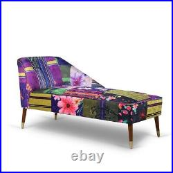 Patchwork Chaise Lounge Chair Sofa