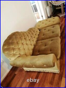 Quilted velvet CHAISE LONGUE, lounge sofa, VGC, LOCAL DELIVERY TO LEAMINGTON SPA