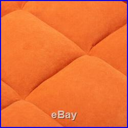Recliner Armchair Chaise Longue Sofa Chair Bed Futon Singe Couch Settee withStool