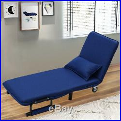 Recliner Sofa Bed 2 in 1 Armchair Chairbed Folding Sofabed Chaise Longue Fabric