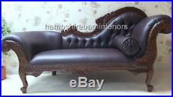 Right Brown Faux Leather Chaise Longue Lounge Sofa