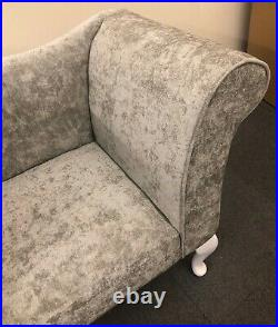 Silver Stone Lustre Chaise Chair Sofa Bedroom Accent Chair Bench