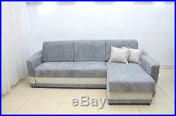 Soft Cord Fabric In All Colours, Corner Sofa Bed Aramis, Sturdy Bed For Everyday