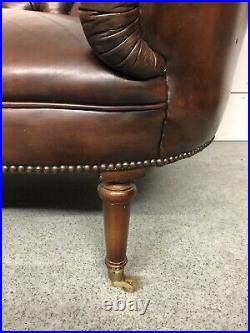Stunning Vintage Chesterfield Chaise Longue / Lounge Antique brown Leather