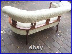 Three Seater Victorian Salon Sofa Chaise Longue FOR Re upholstery