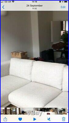 Used NOCKEBY3-seat sofa, with chaise longue, black legs