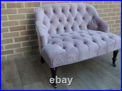 Velvet Quality Chesterfield Style Chaise Lounge (UK Safe Delivery possible)