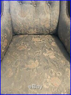 Victorian Chaise Longue/Lounge + 2 Armchairs +4 Dining chairs (7 piece set)