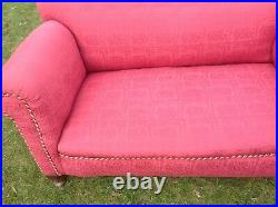 Vintage Antique 2 Seater Sofa with one Drop Arm, chaise longue