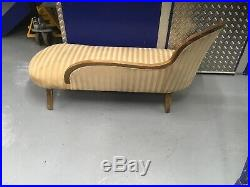 Vintage Chaise Longue, Antique Style Settee, Sofa, Couch