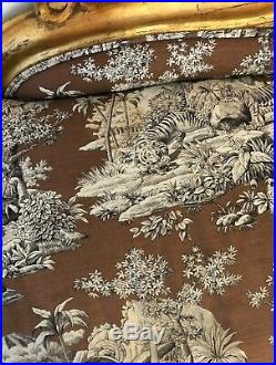 Vintage Chaise Lounge French Design luxe wild safari fabric