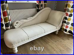 Vintage Style Cream Chaise Lounge