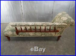 Vintage Victorian Oak Carved Chaise Longue Settee Old Charm Day Bed Sofa