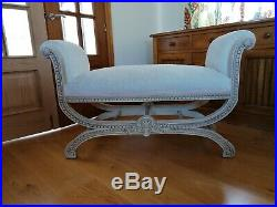 Vintage styled sofa, Récamier daybed or bench, shabby chic